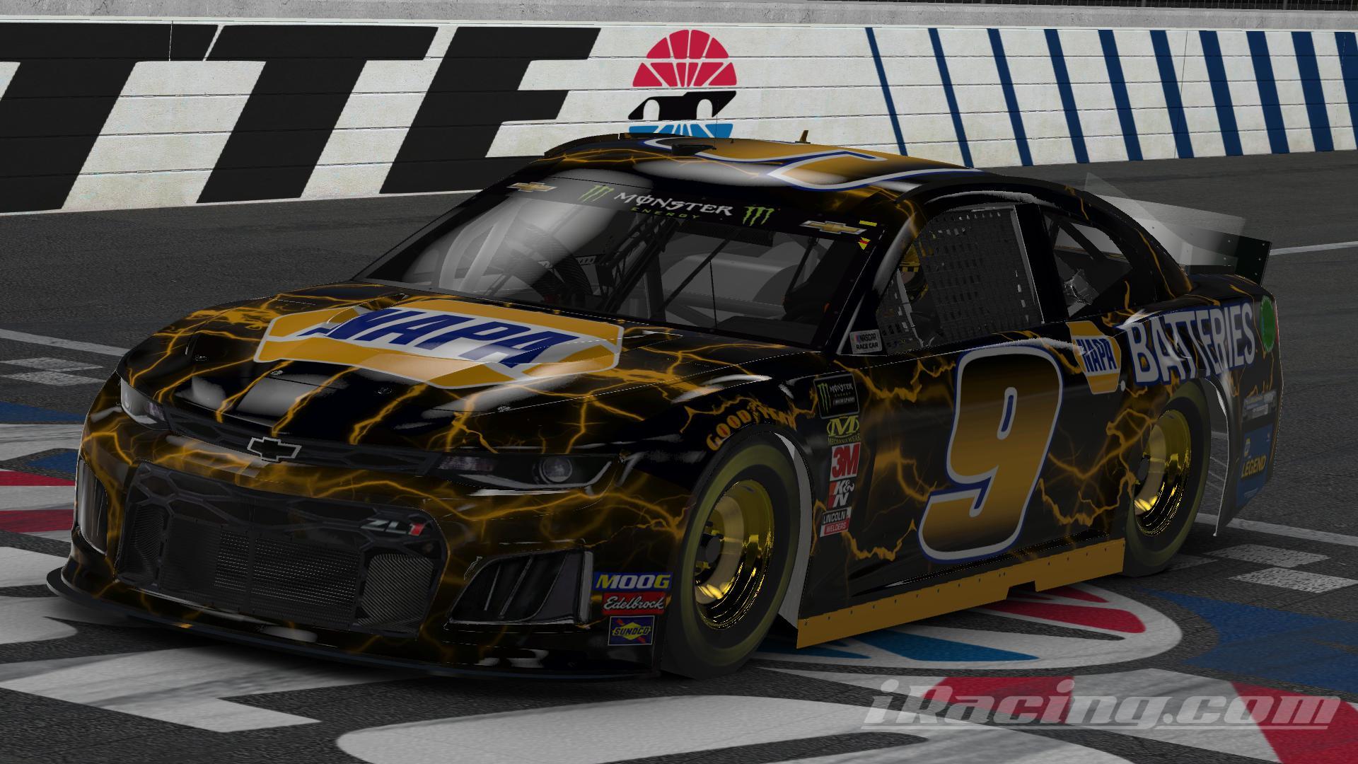 Preview of NAPA Chase Elliott Legend Battery Black Car (No #) by Chris T J.