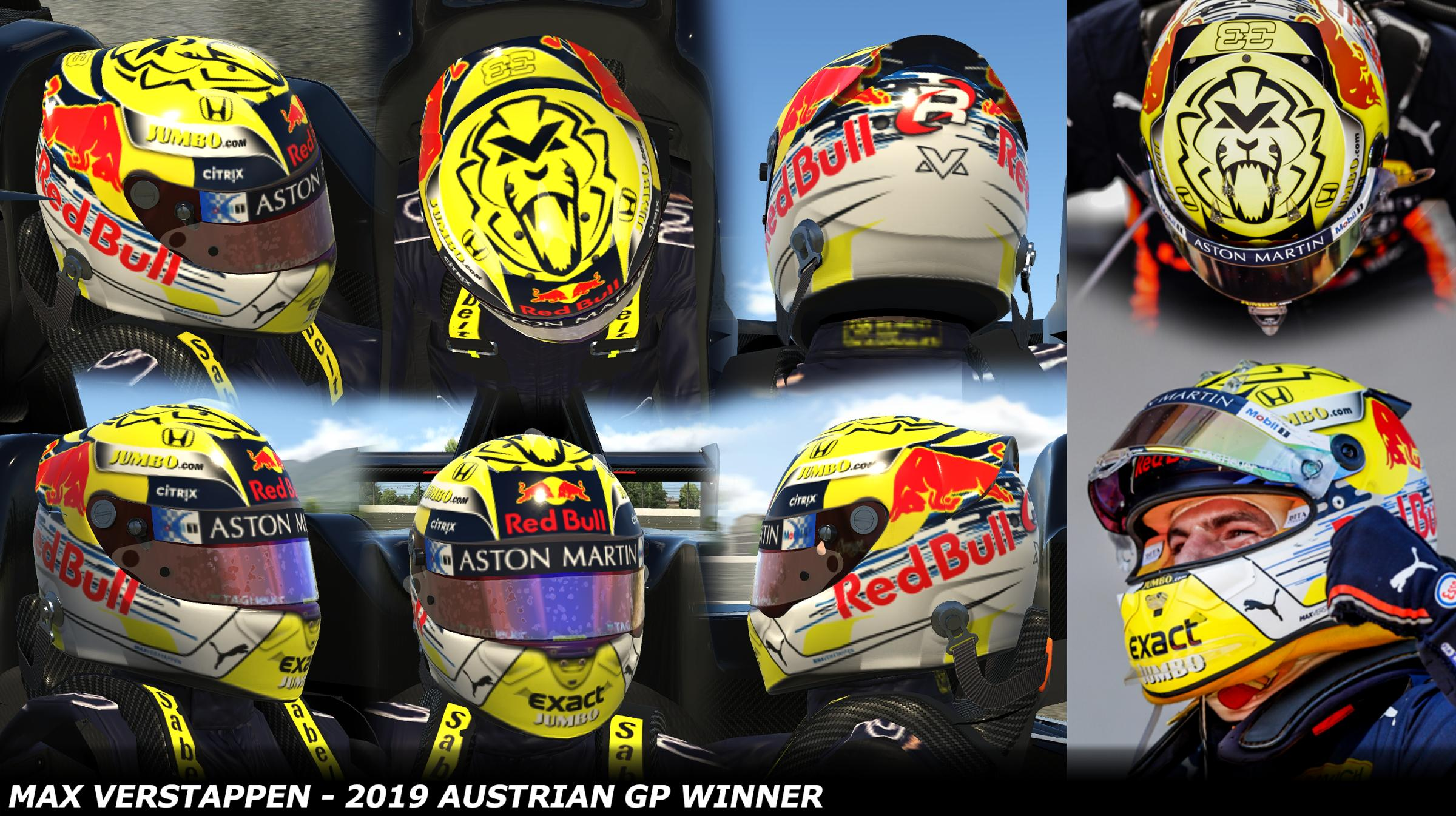 Preview of Max Verstappen 2019 - Austrian GP Winner by George Simmons