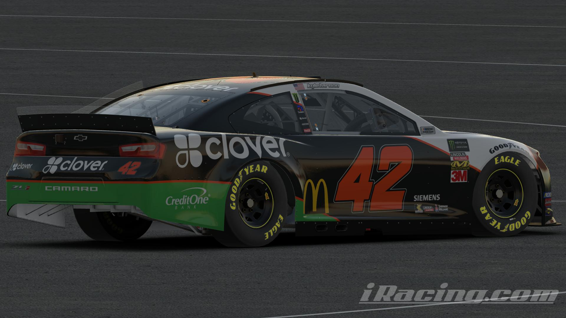 Preview of Kyle Larson Clover Throwback by Austin G Johnson