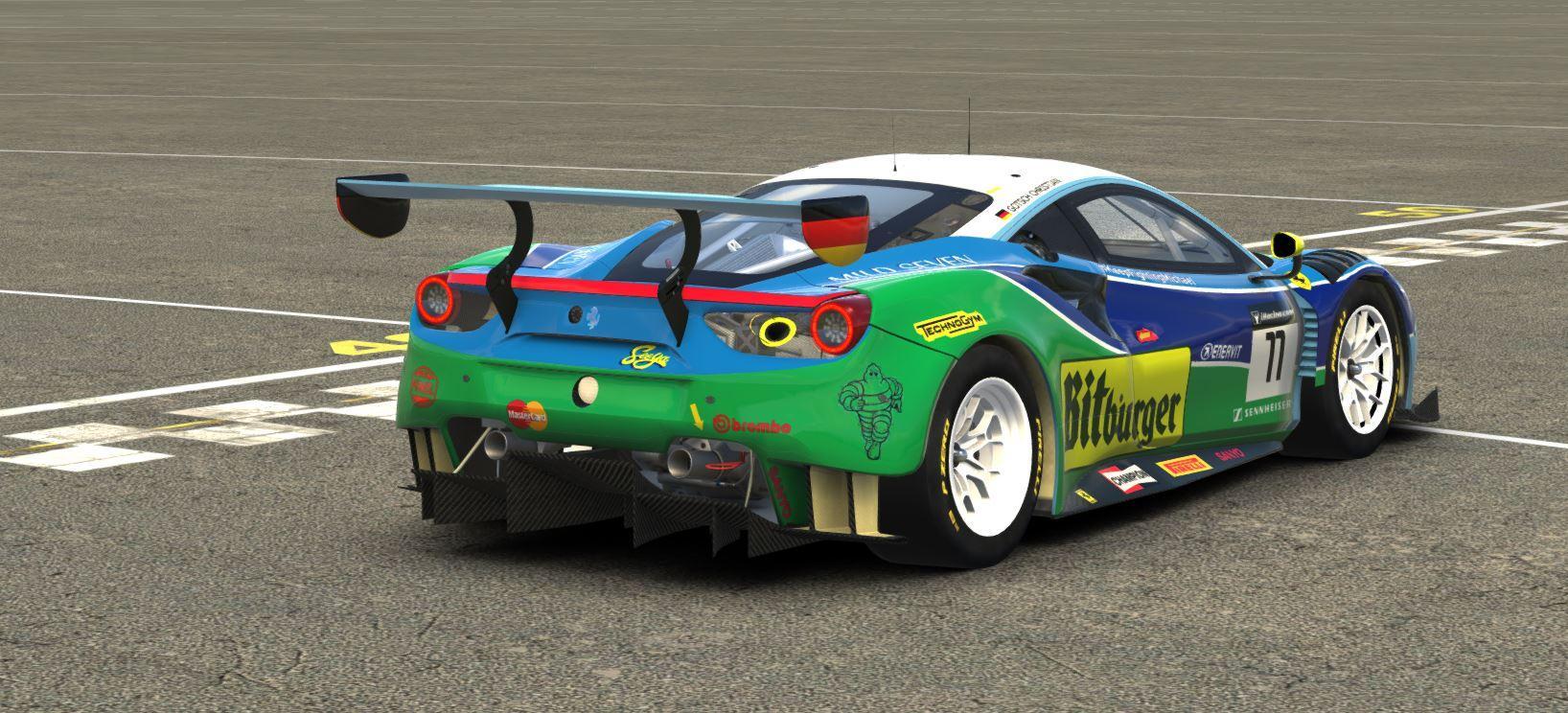 Preview of Ferrari 488 GT3Benetton by Christian Gotsch