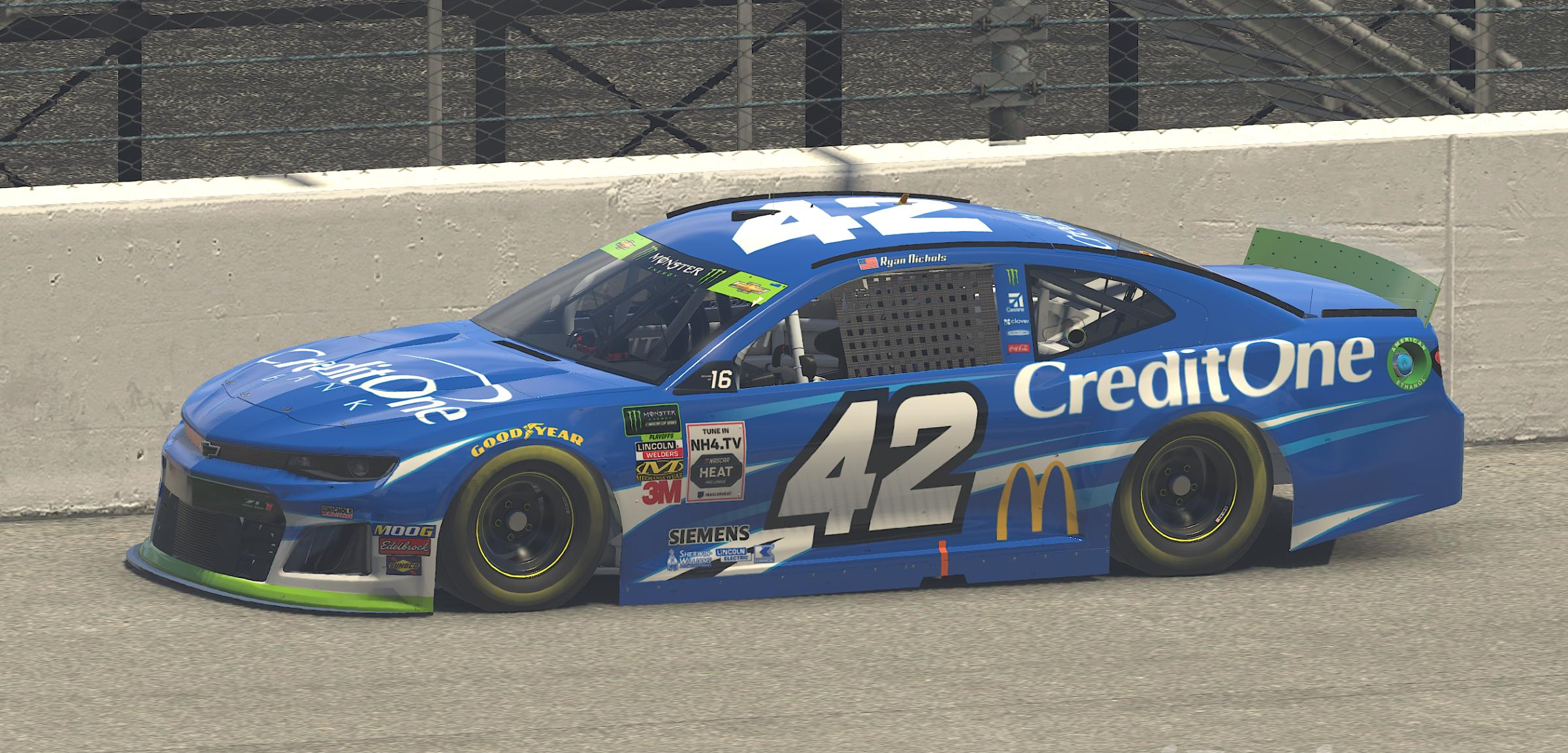 Preview of 2019 Kyle Larson Credit One Bank Chevy ZL1 Playoff Version by Ryan Nichols2