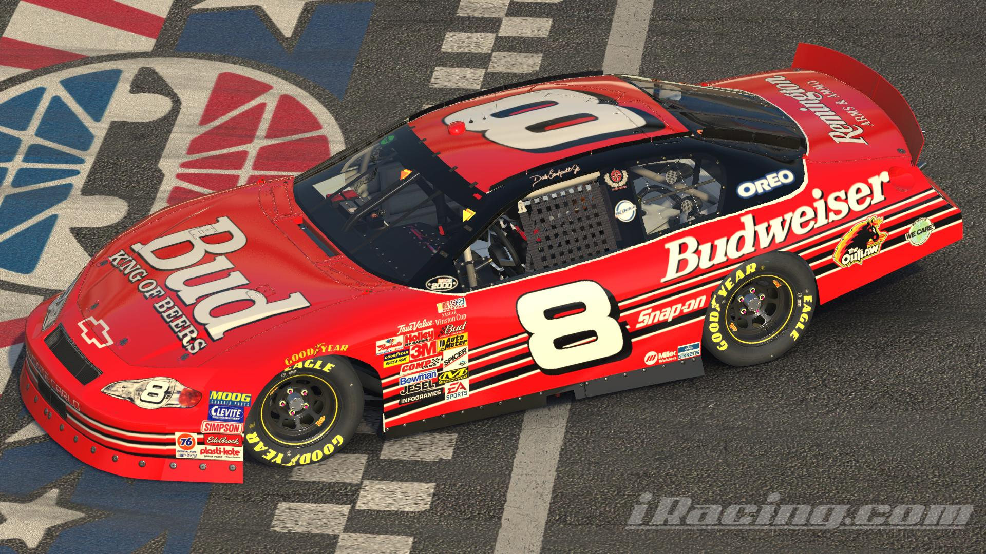 Preview of Budweiser 2000 Dale Jr w/ numbers by Blake Kelley