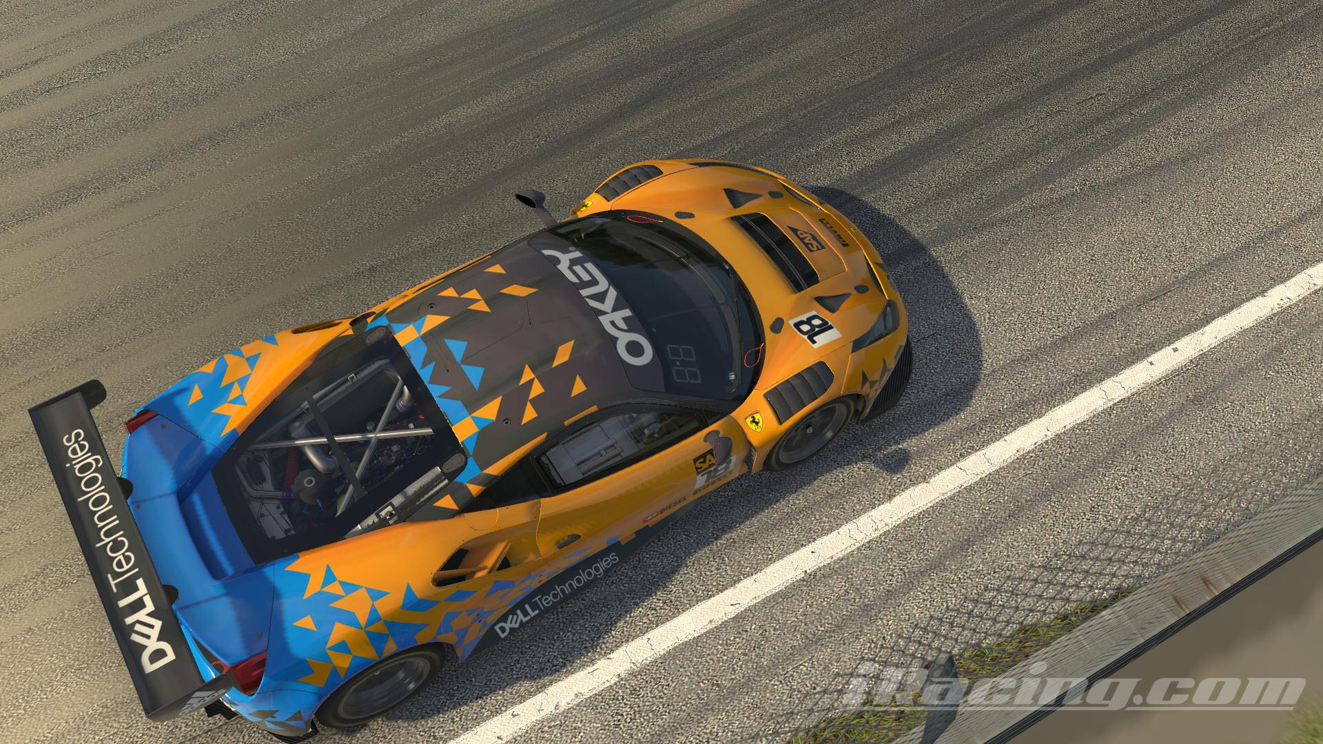 Preview of Ferrari 488 GT3 Papaya / Blue Livery by Graham Cremer