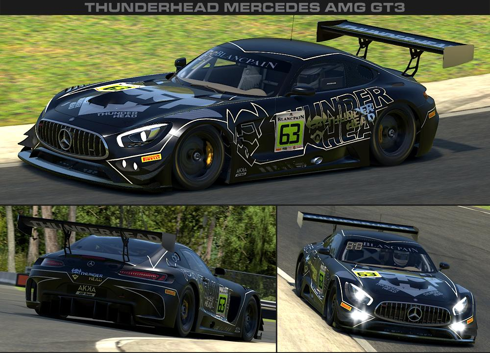 Preview of V2.0 THUNDERHEAD Mercedes AMG GT3 - Blancpain GT Series - AKKA ASP Team by George Simmons