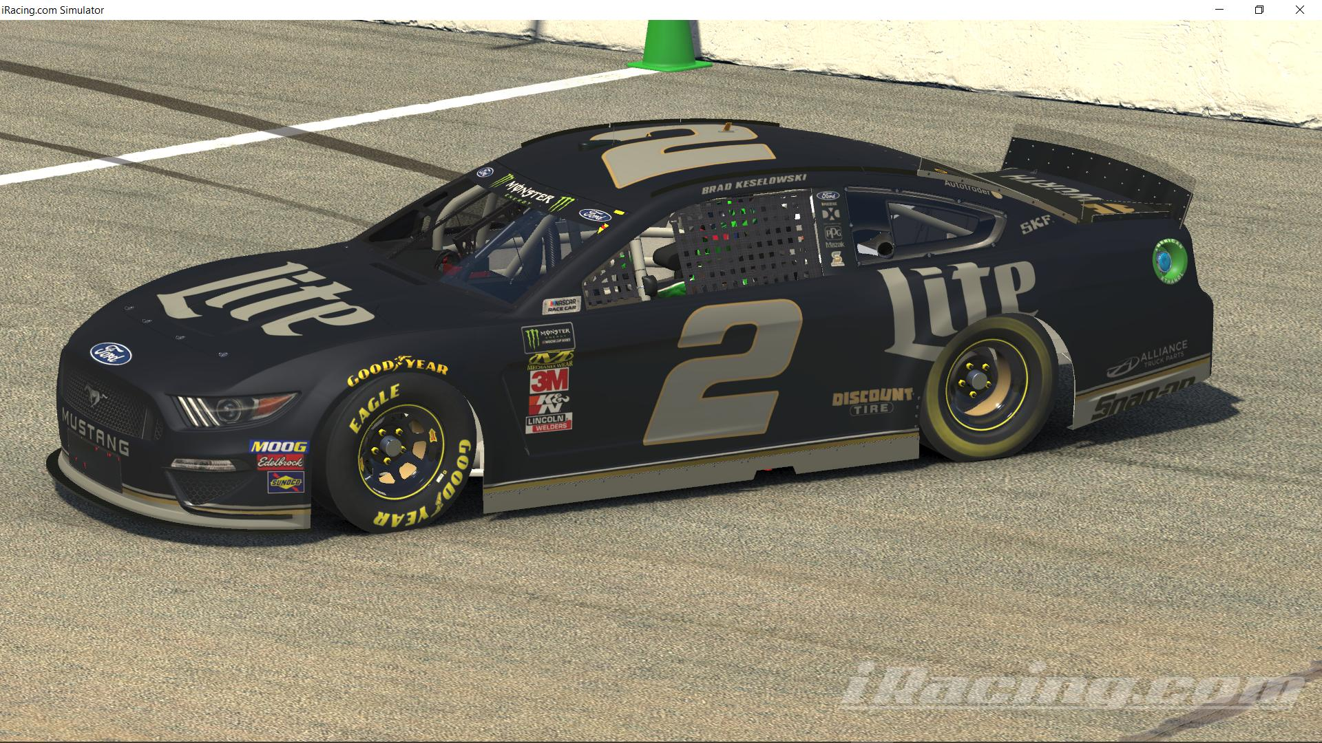 Preview of Brad Keselowski Miller Lite Promo (Fantasy) with Spec Map  by Justin Bland