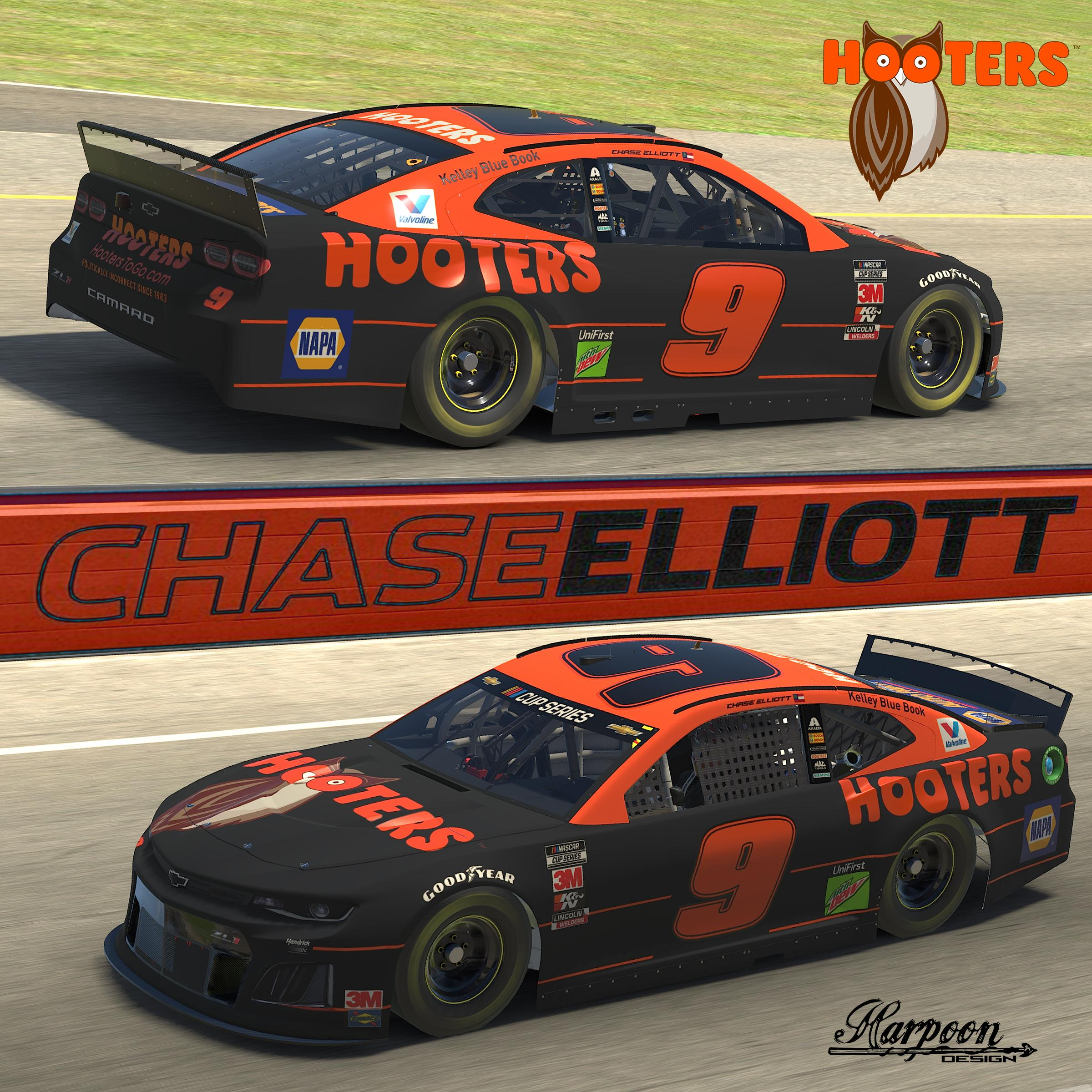 Preview of 2020 Chase Elliot Hooters No Num by Brantley Roden