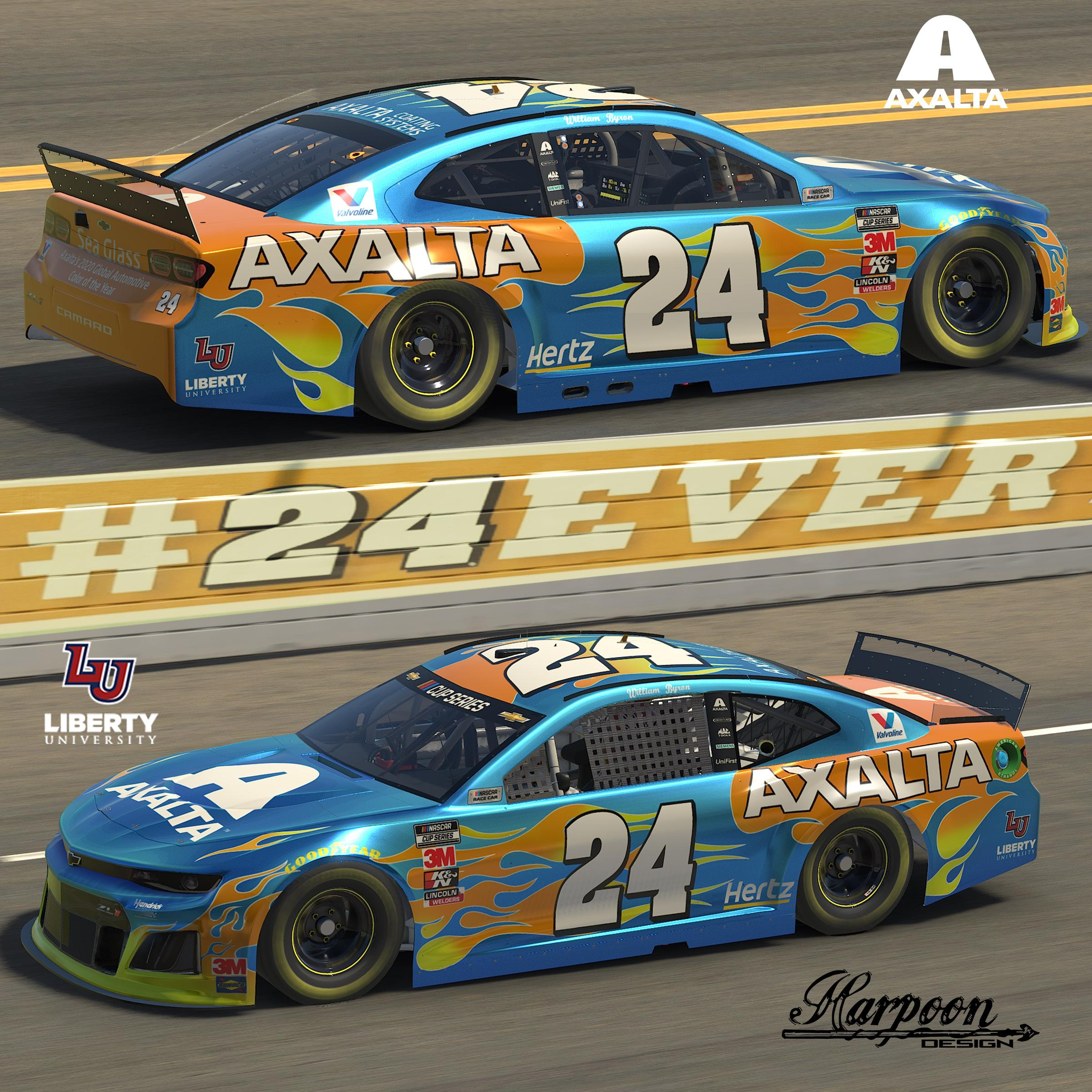 Preview of 2020 William Byron Axalta Sea Glass Camaro no num by Brantley Roden