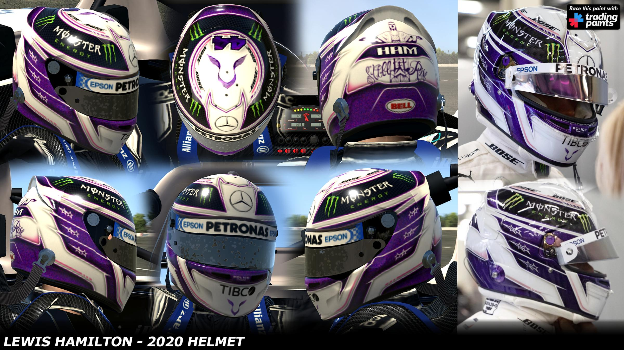 Preview of Lewis Hamilton 2020 - Testing Helmet by George Simmons