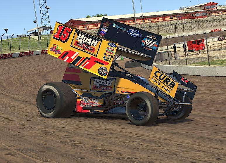 Preview of Donny Schatz Rush Truck Centers iracing by Drew Neel