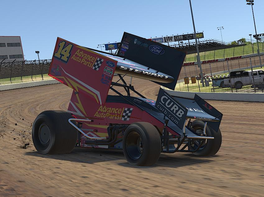 Preview of Tony Stewart Advance Auto Parts iracing  by Drew Neel