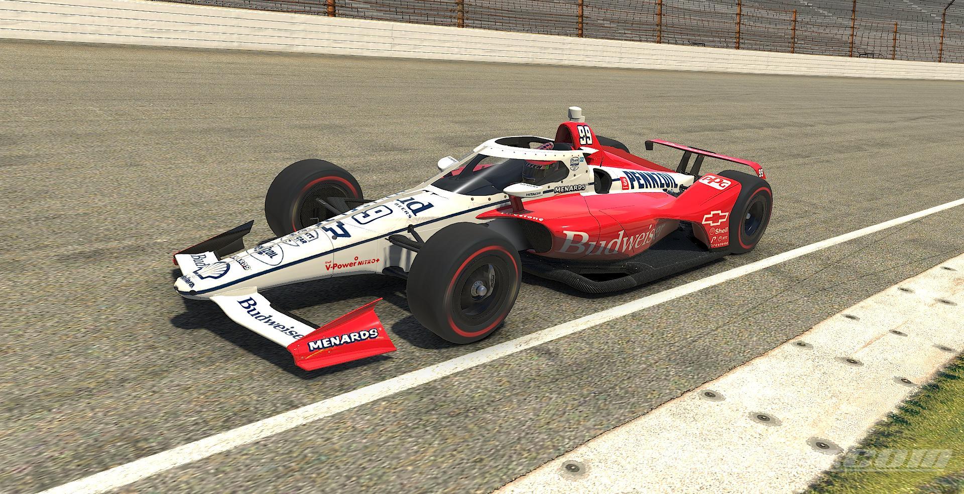 Indycar Dallara IR18 - Budweiser 2020 by Cody Steffen ...