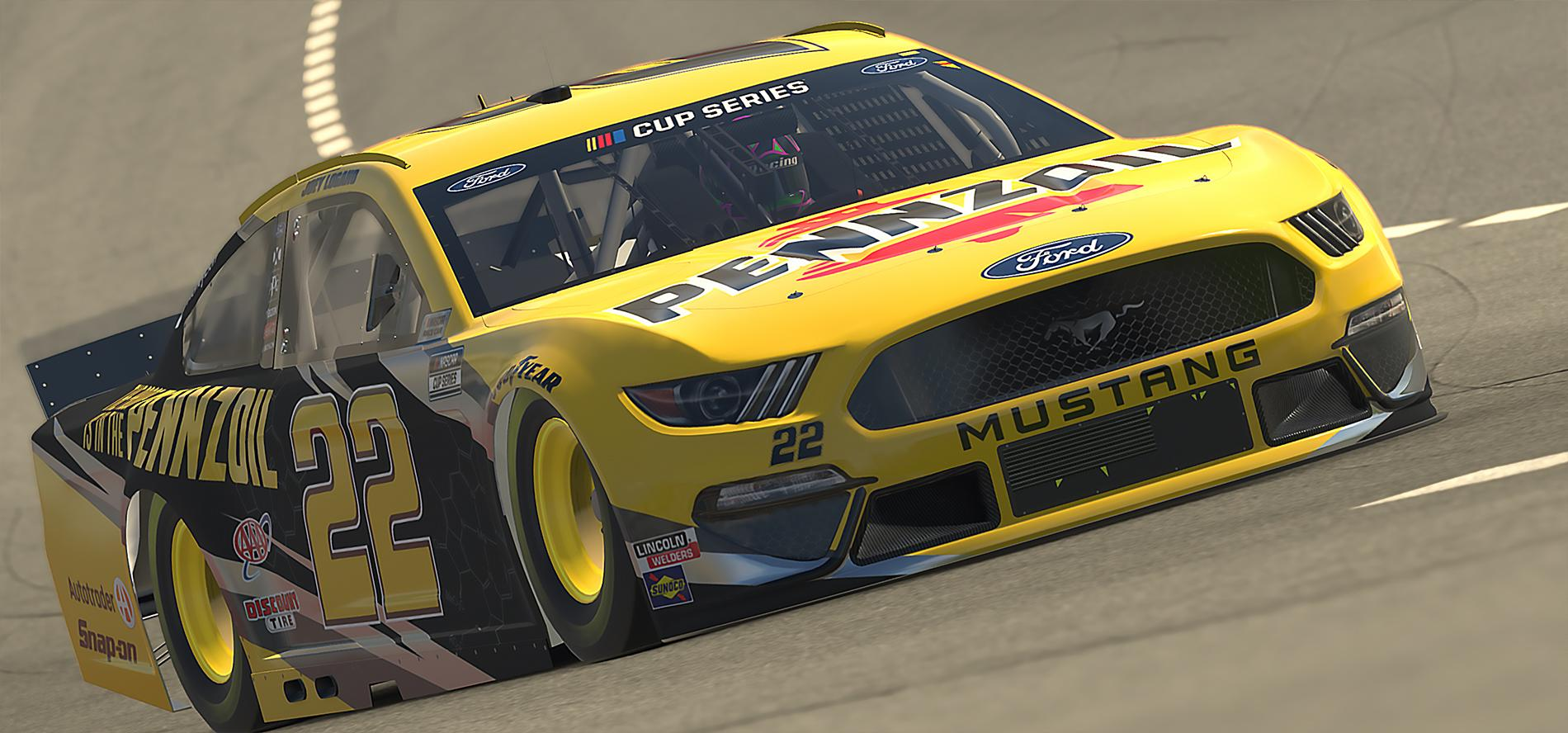 Preview of Fictional #22 Joey Logano Pennzoil Mustang by David Baker