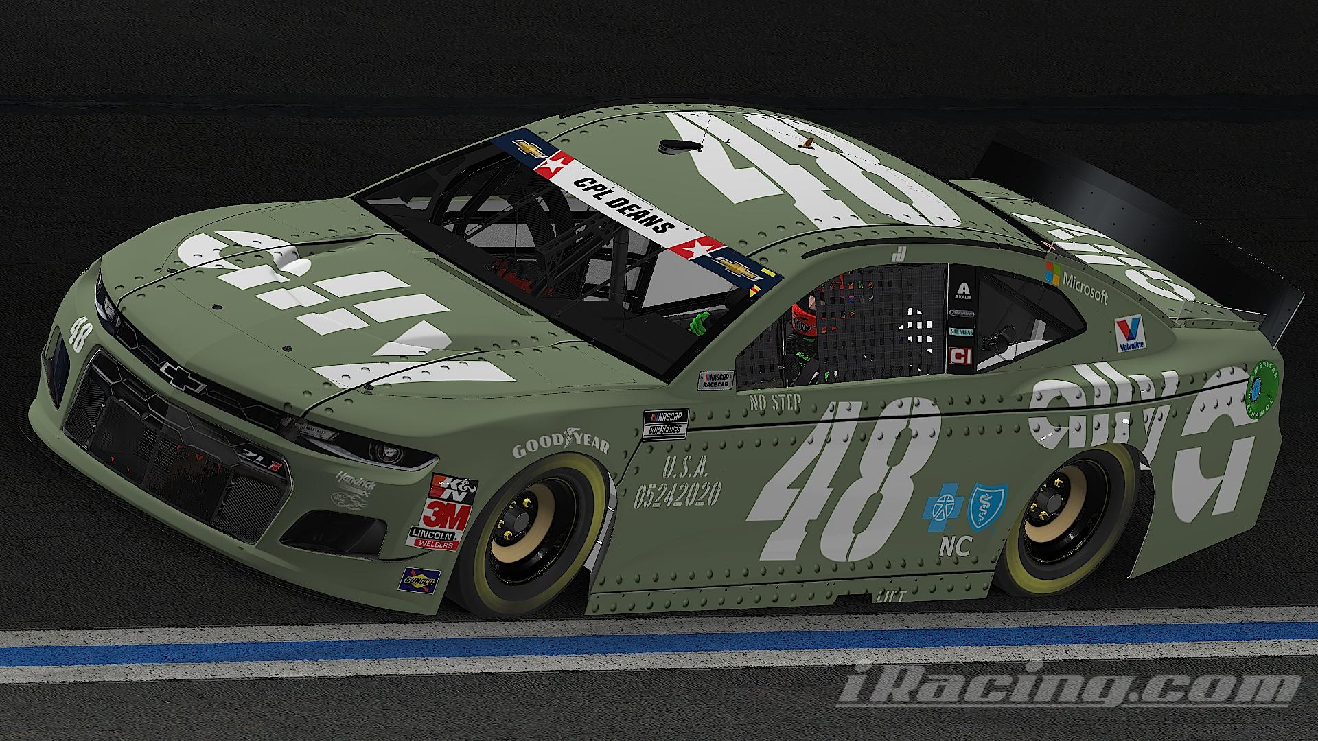 Preview of Jimmie Johnson 2020 ally Memorial Day (no #)  Chevrolet Camaro ZL1 1LE Gen 6 by Nicholas Doucette