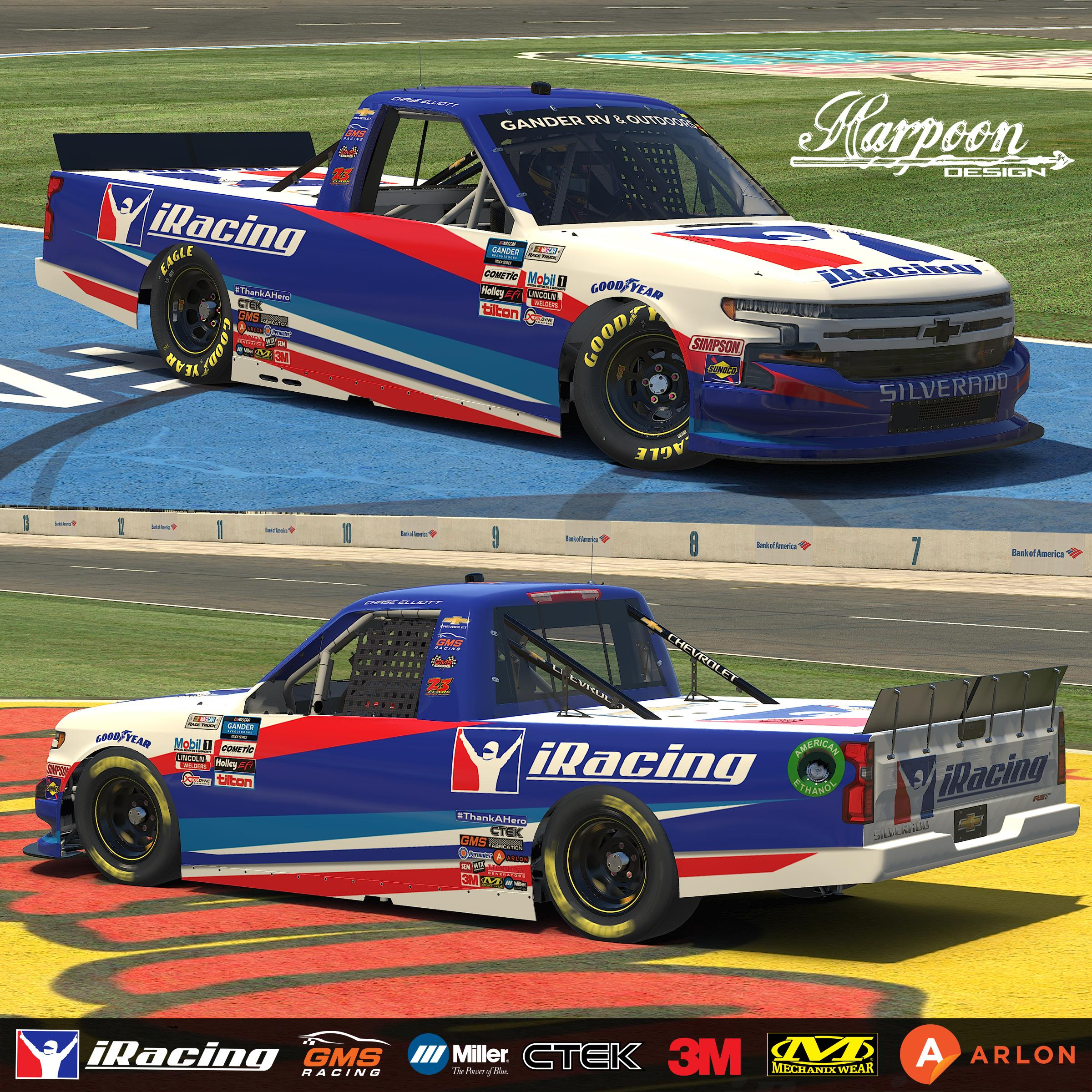 Preview of 2020 Chase Elliott iRacing Chevy Silverado no num by Brantley Roden
