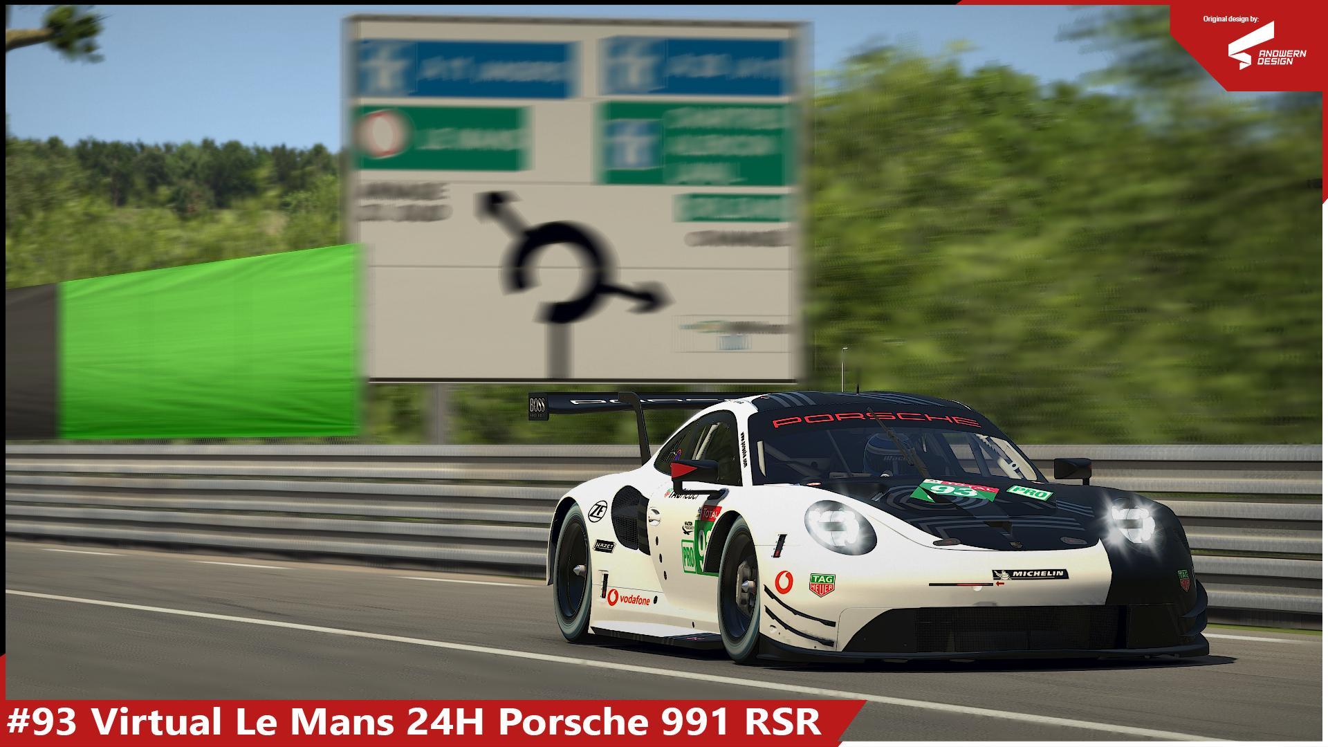 Preview of #93 Virtual LeMans 24H Porsche RSR by Sergio Hernando