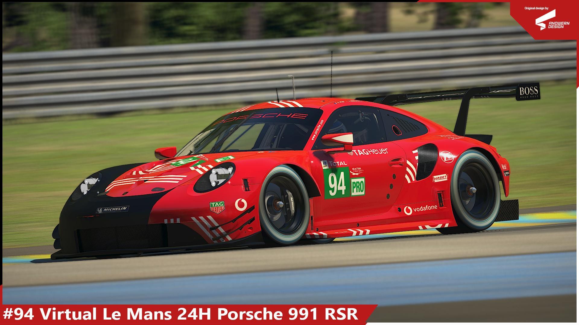 Preview of #94 Virtual LeMans 24H Porsche RSR by Sergio Hernando