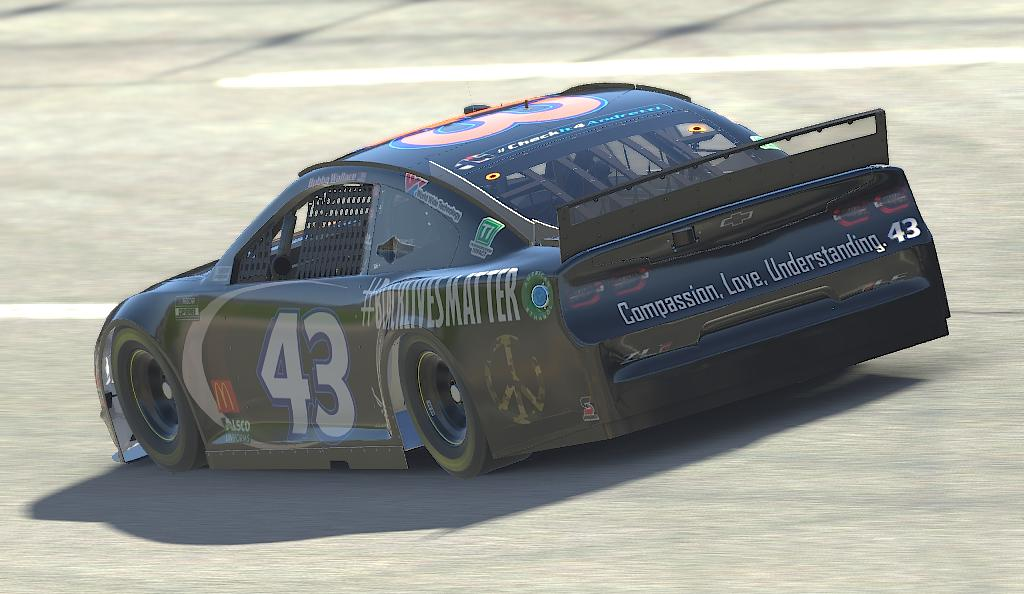 Preview of #43 Bubba Wallace Black Lives Matter Camaro by Benjamin Fanning