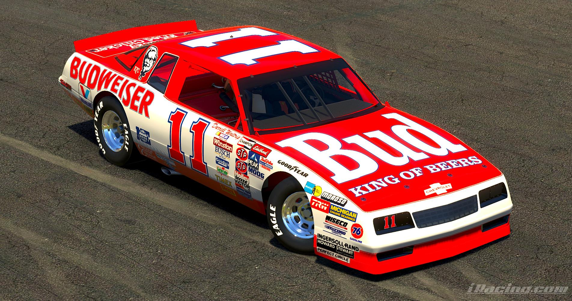 Preview of 1986 Darrell Waltrip Budweiser Monte Carlo (No #s) by Ryan A Williams