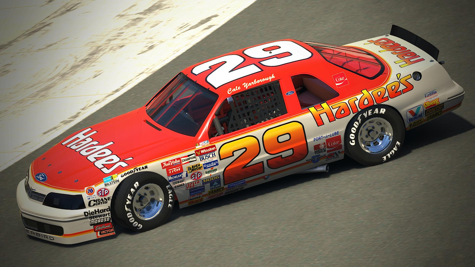 Preview of 1988 Cale Yarborough Hardees Thunderbird by Justin Rowden