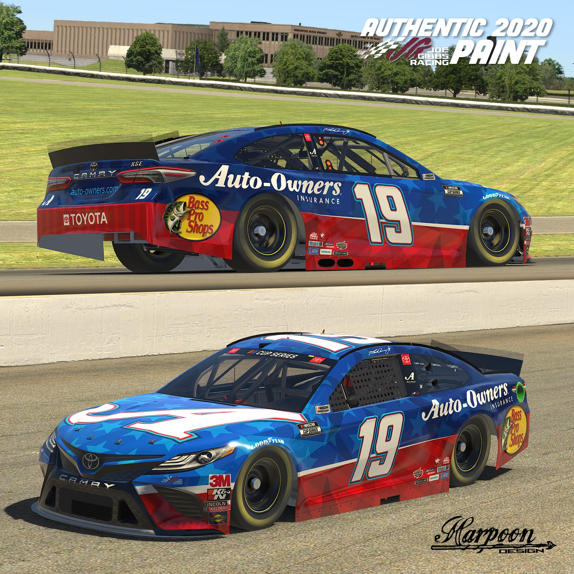 Preview of 2020 Martin Truex Jr Auto Owners Camry by Brantley Roden