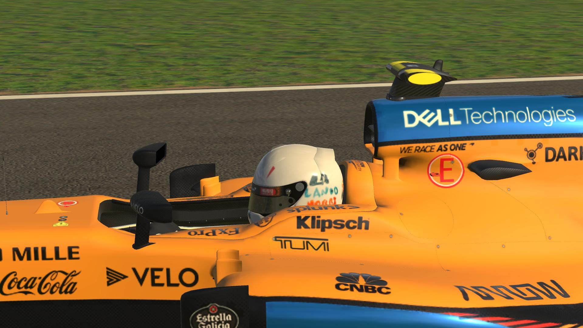 Preview of Lando Norri S Silverstone Helmet by Lewis Edwards
