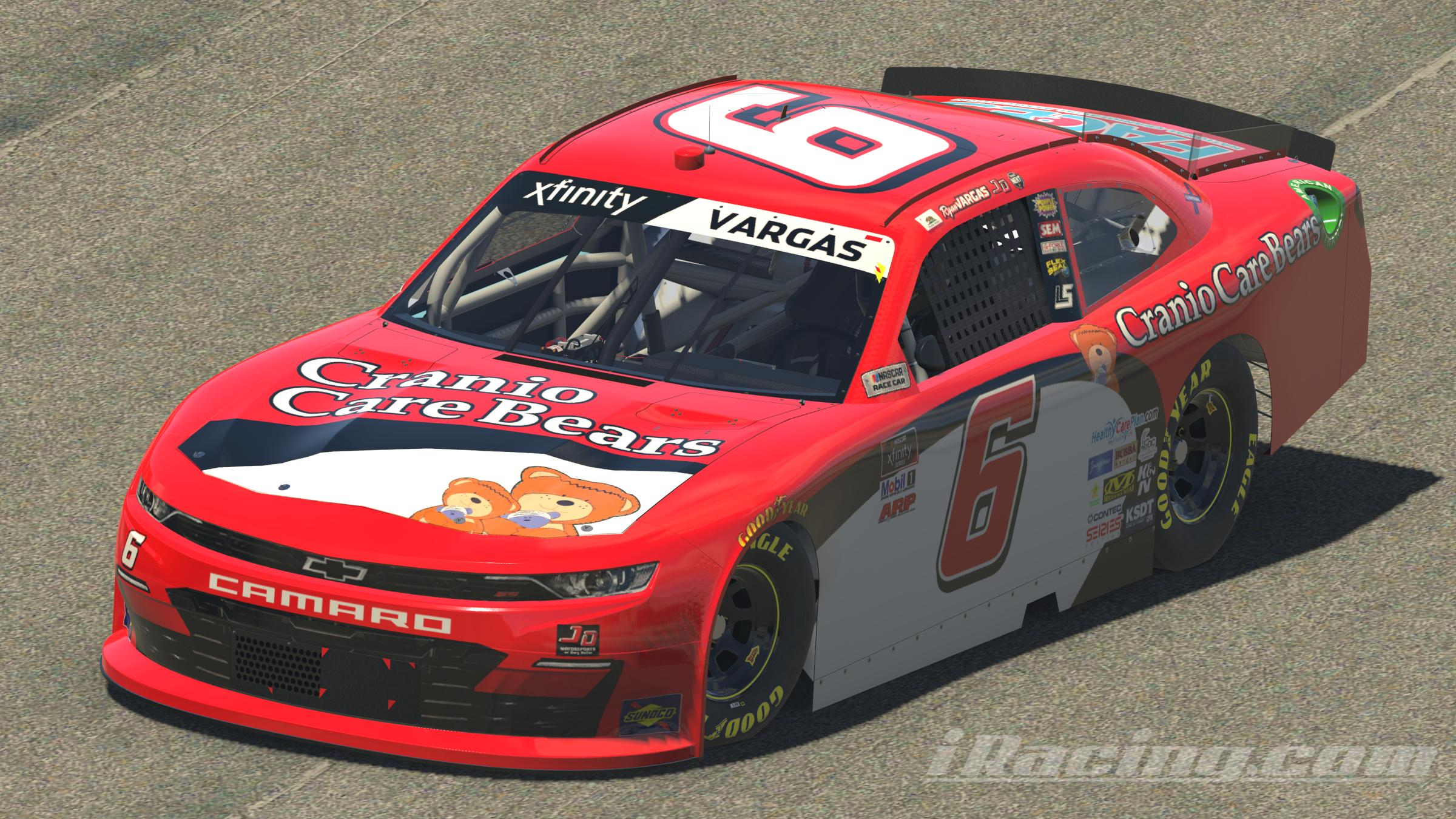 Preview of 2020 Ryan Vargas Cranio Care Bears Jimmie Johnson Throwback Chevrolet by Leighton B Sibille