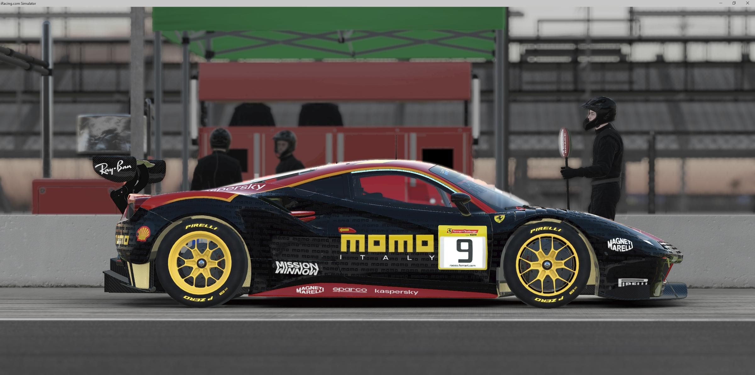 Preview of Ferrari 488 GT3 MOMO by Jérôme Bajulaz
