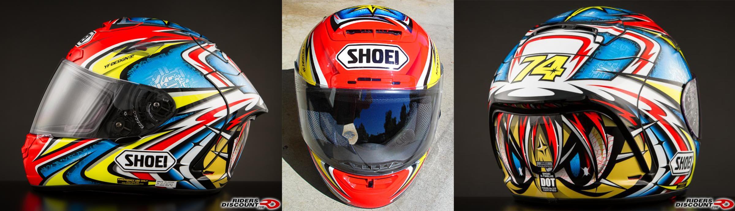 Preview of Daijiro Helmet - Red Bleu Yellow by Julien Ribouleau