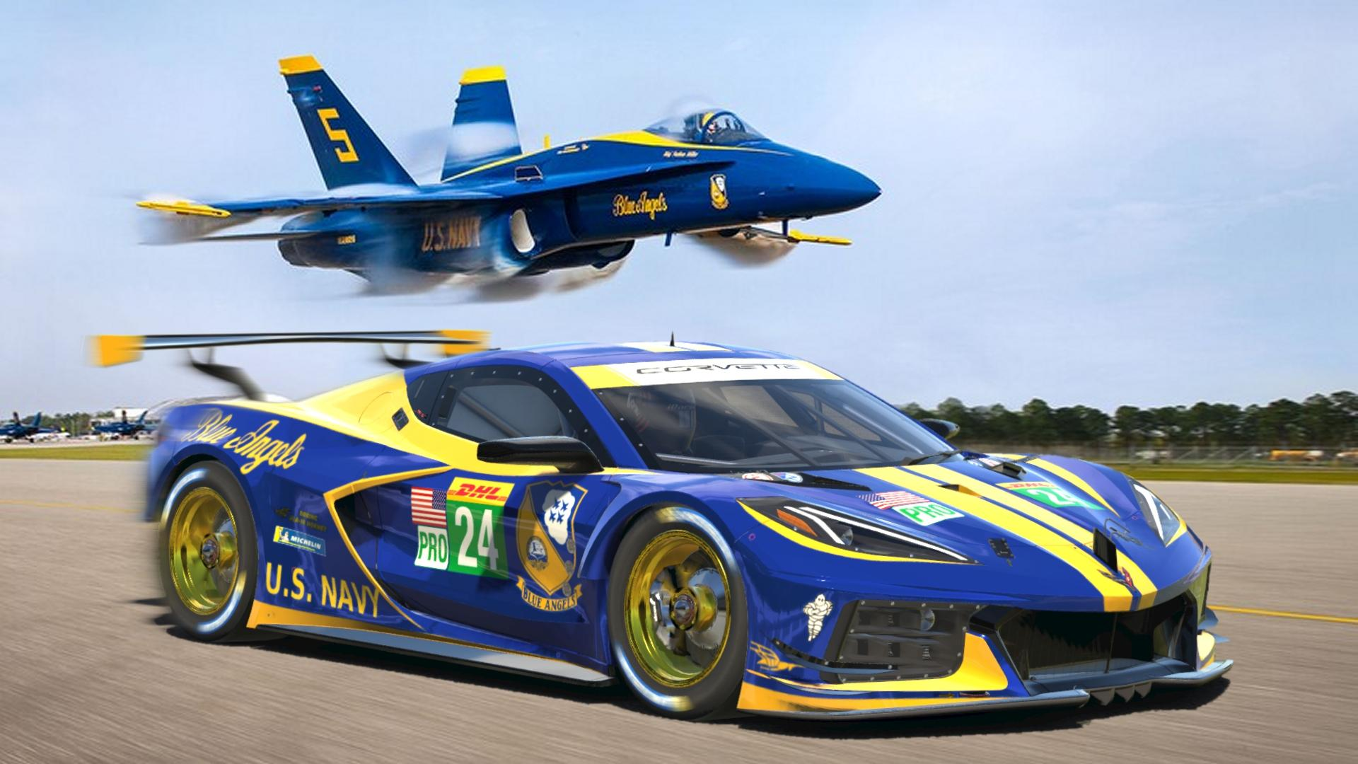 Preview of Chevrolet Corvette C8R Blue Angels by Don Craig