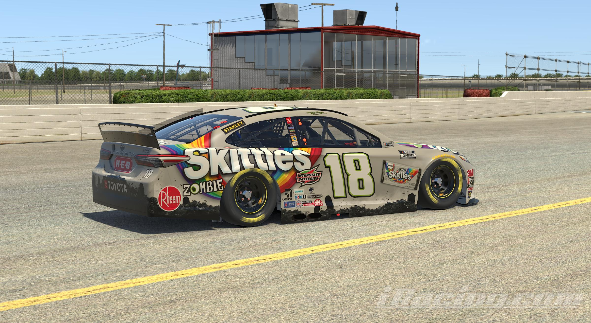 Preview of 2020 Kyle Busch Skittles Zombie Camry No Num by Brantley Roden