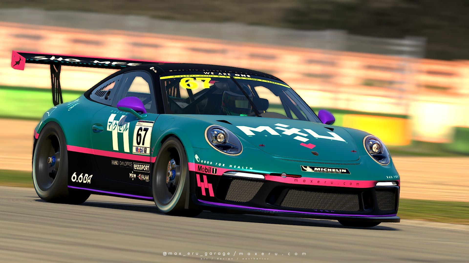 Preview of MXU Minimal Aqua-P - Porsche 911 GT3 Cup by Bryce L.