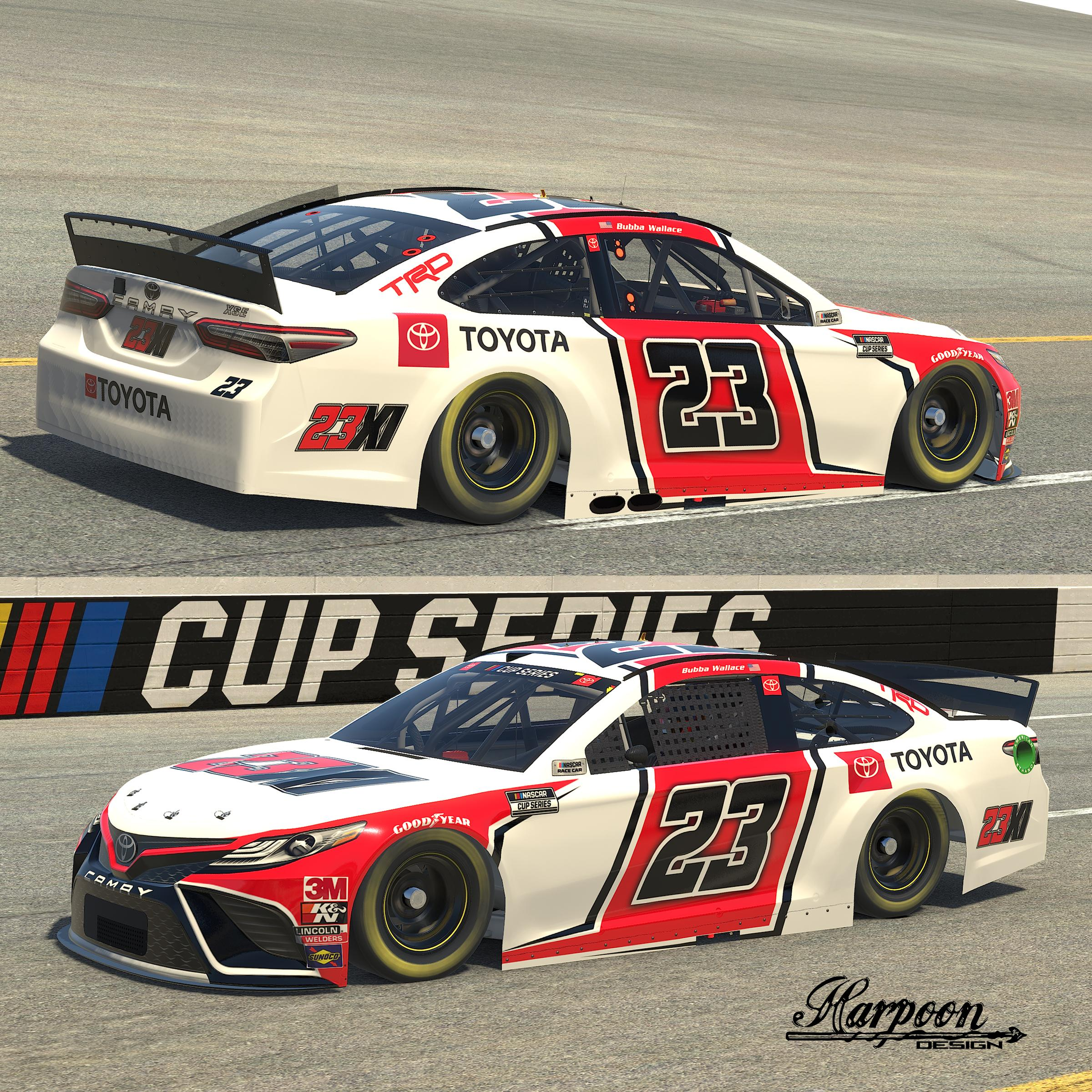 Preview of 2021 Bubba Wallace 23X1 Camry by Brantley Roden