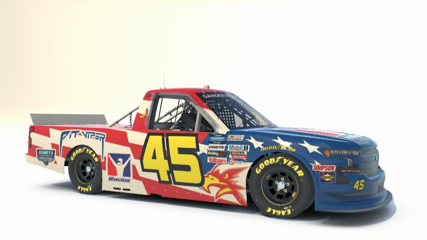 Preview of Travis Pastrana #45 iRacing 2020 NASCAR NASCAR Gander RV & Outdoors Truck Series by Ryan Broderick
