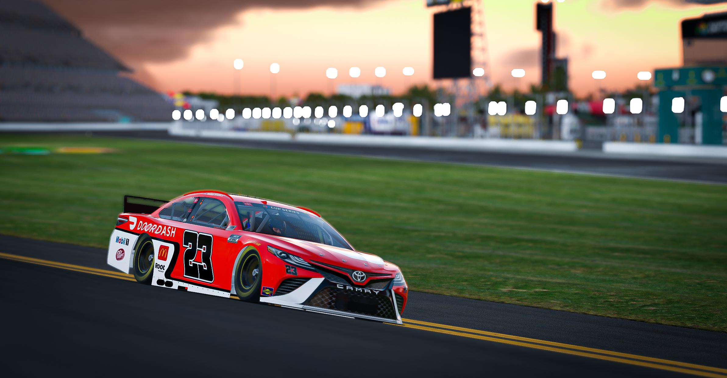 Preview of OFFICIAL 2021 Bubba Wallace 23XI DoorDash Red - w/ number by Adam Heili