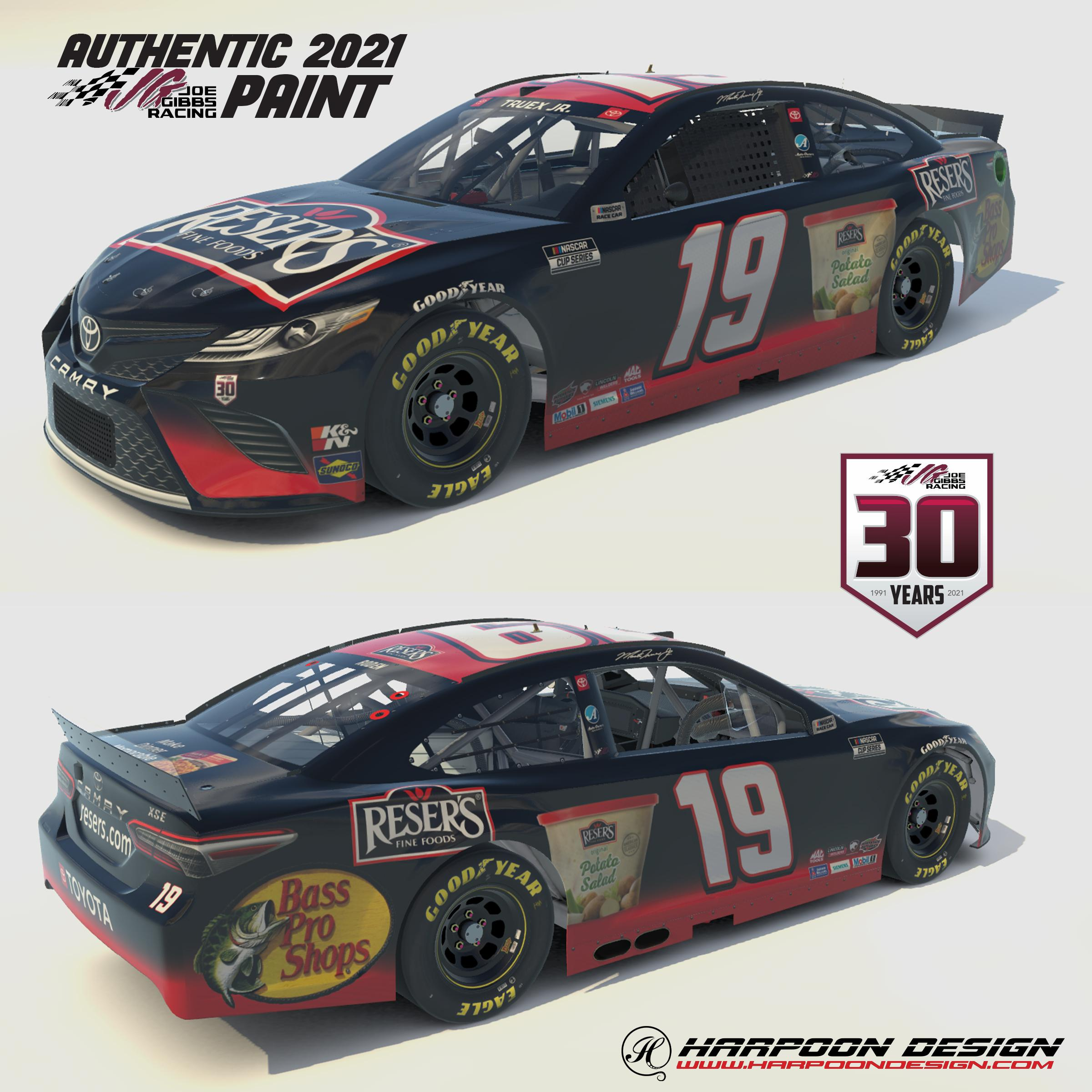 Preview of 2021 Martin Truex Jr Resers Camry No Num by Brantley Roden