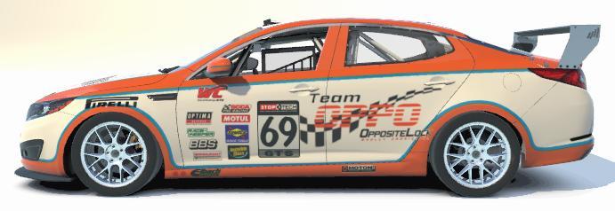 Preview of Team Oppositelock Kia Optima - Blue Stripes by Brent P.