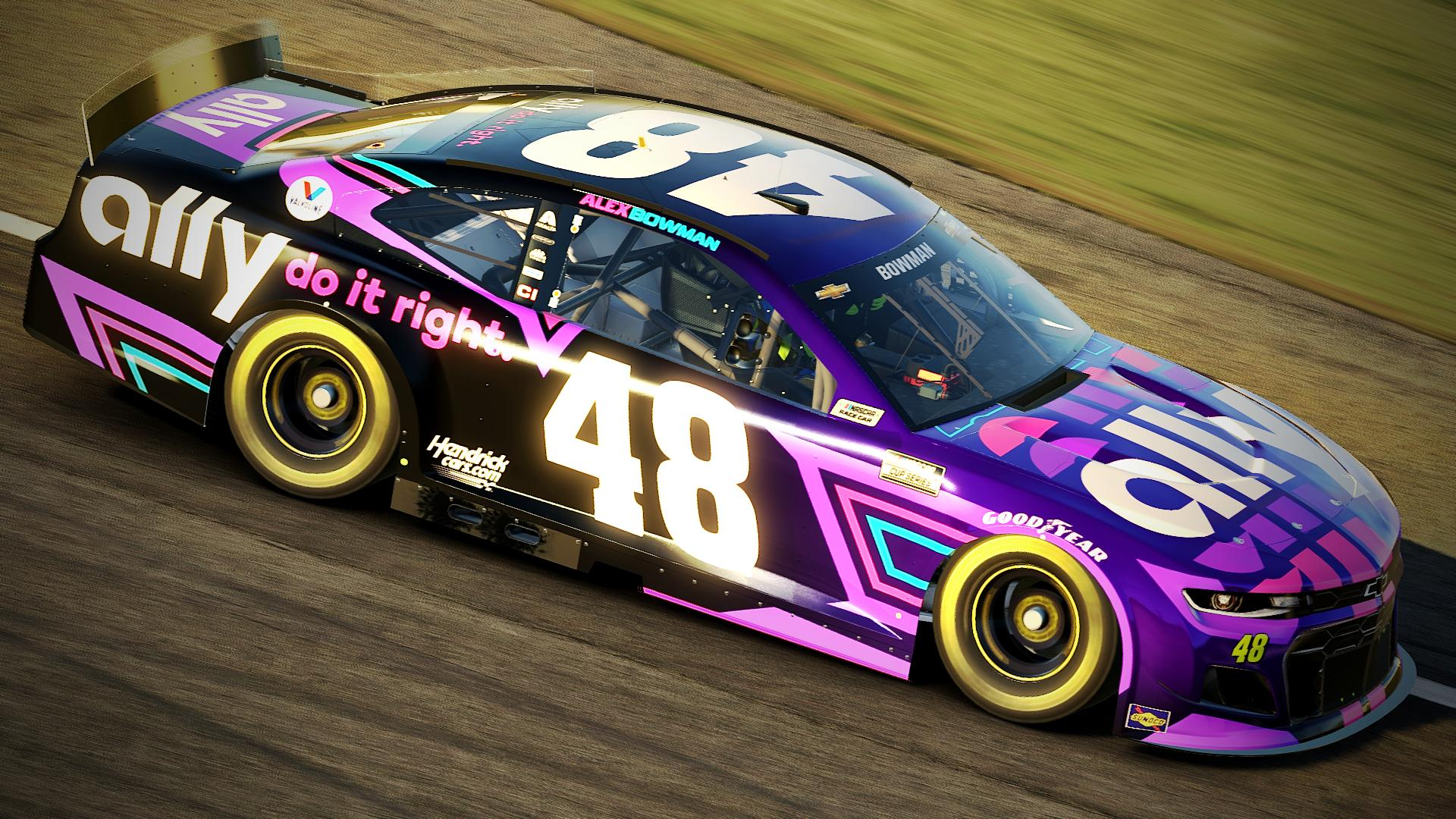 2021 Alex Bowman Ally Camaro by Justin Rowden - Trading Paints
