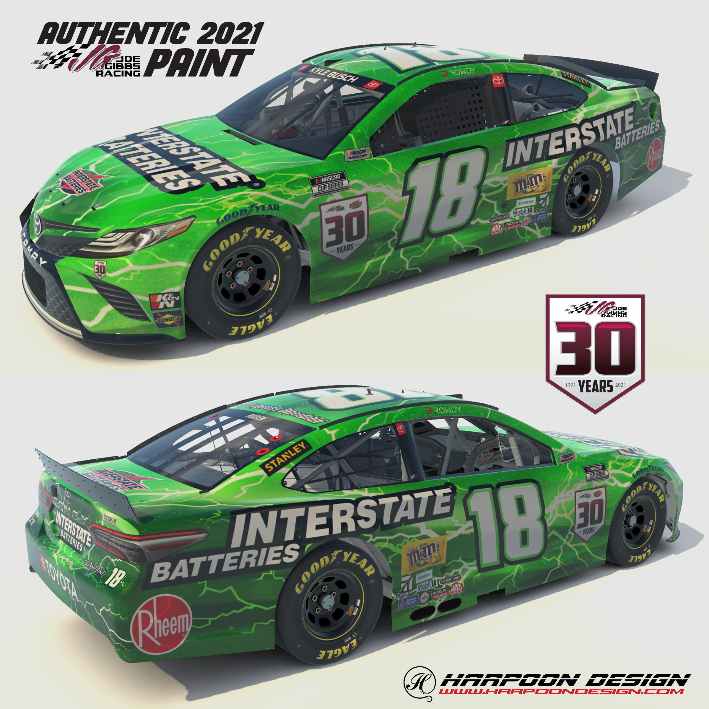 Preview of 2021 Kyle Busch Interstate Camry No Num by Brantley Roden