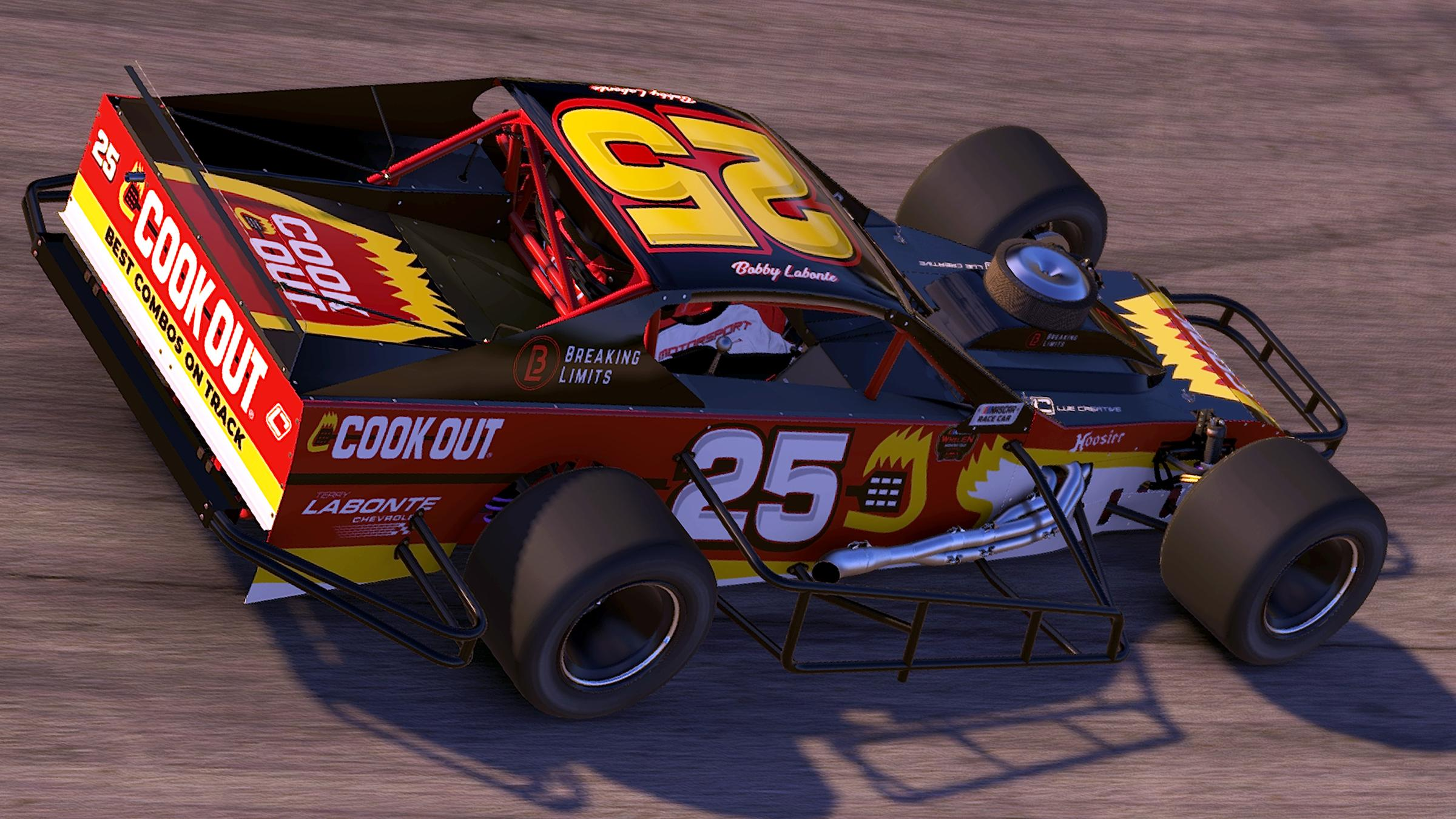 Preview of Bobby Labonte #25 Cook Out Racing Modified by Harris Lue