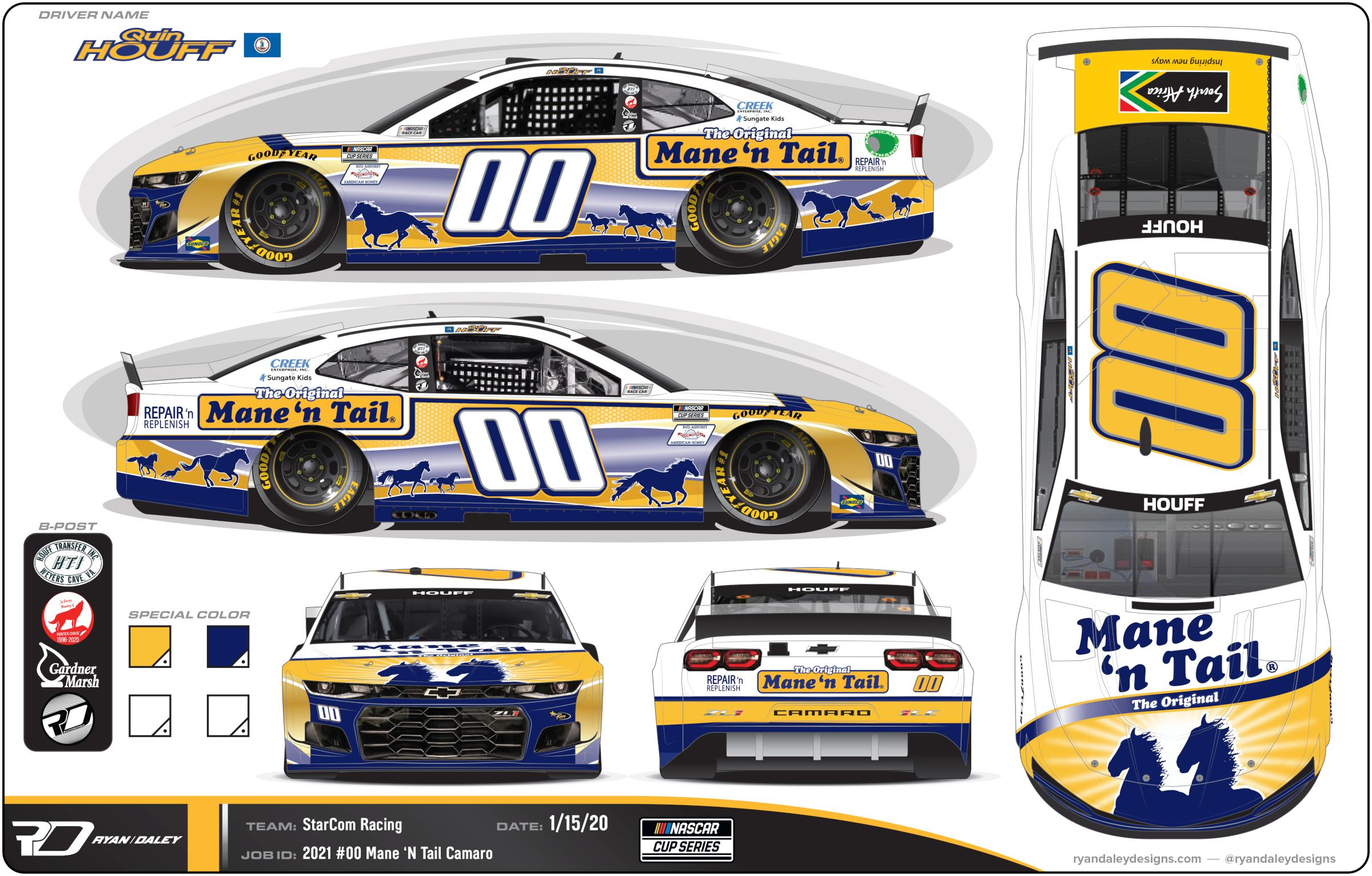 Preview of Official 2021 #00 Quin Houff Mane n Tail No Numbers by Ryan Daley