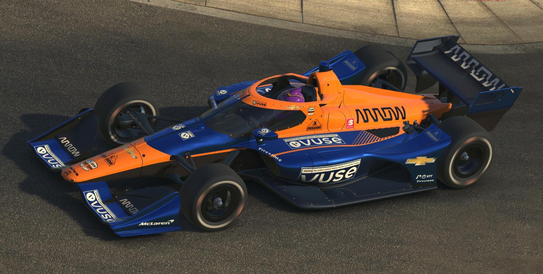 Preview of 2021 Felix Rosenqvist Arrow McLaren SP Indycar by Tyler Tucker
