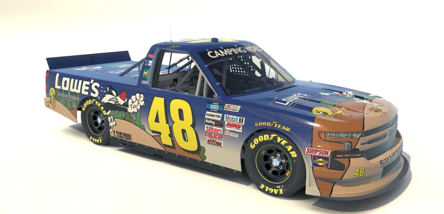 Preview of Jimmie Johnson Lowes 2002 Looney Tunes Rematch Sylvester and Tweety Silverado Custom Number by Steve J Cass