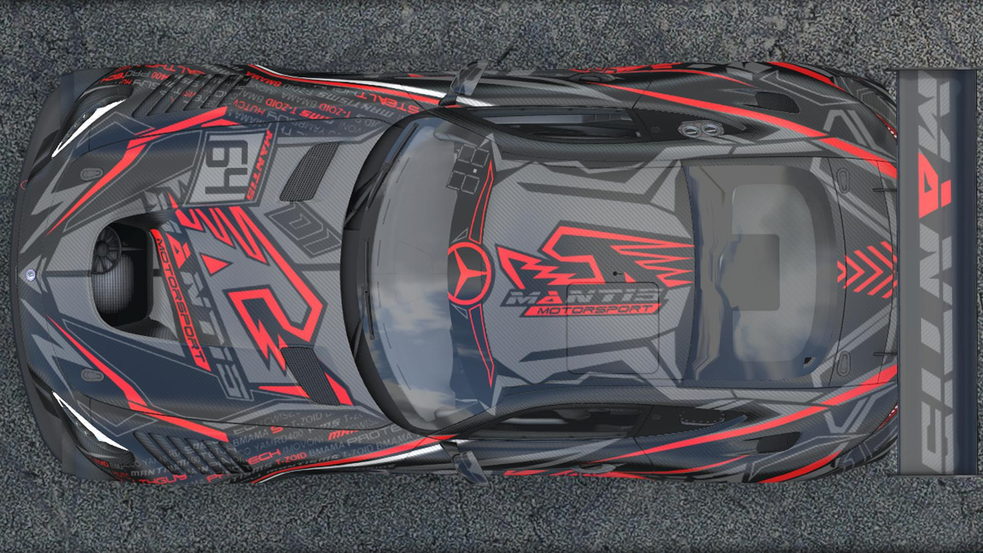 Preview of Mercedes AMG GT3 ONYX / RED CARBON by Kirk S.