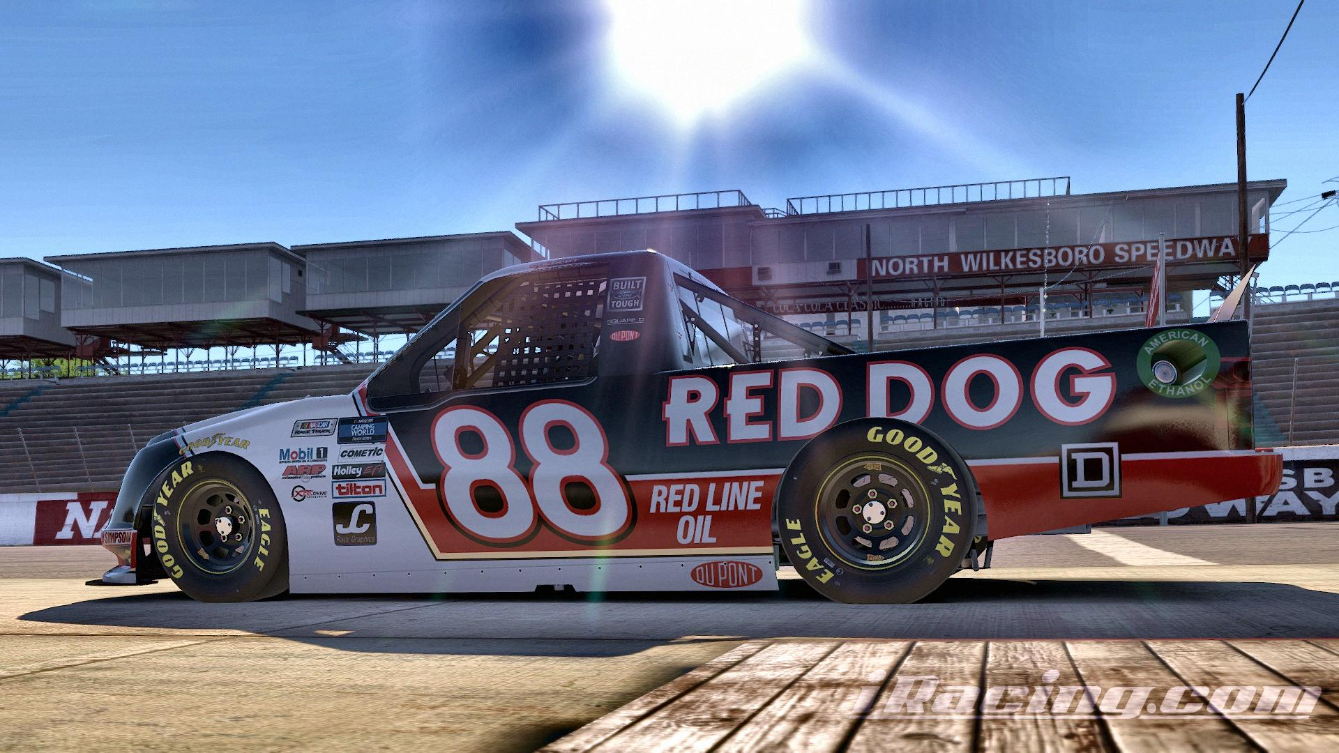 Preview of Kenny Wallace 1995 Red Dog F150 Throwback by Jonah Colbert