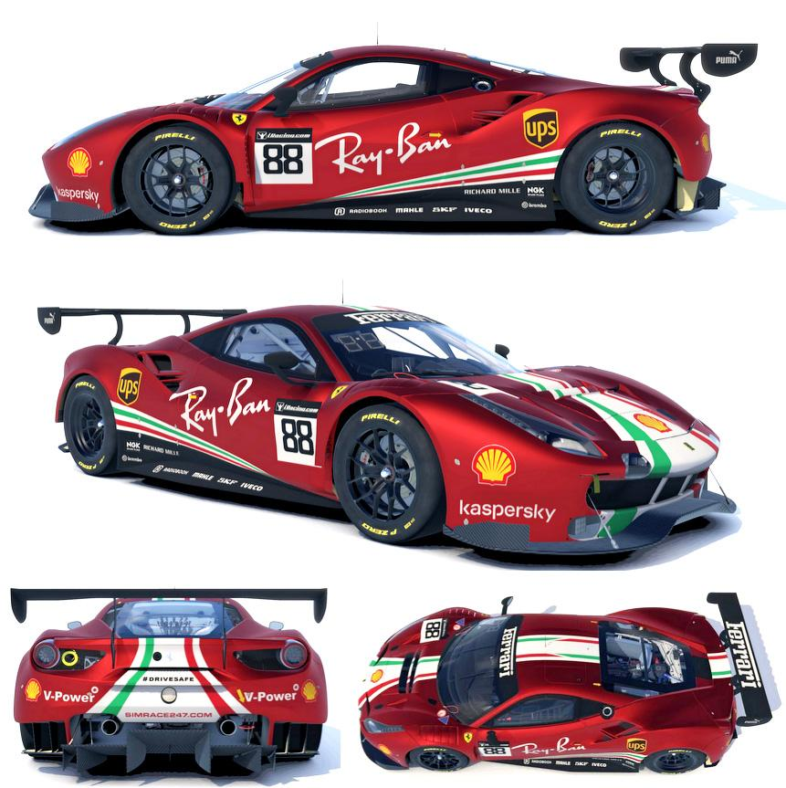 Preview of Ferrari 488 GT3 AF Corse by Paul V.