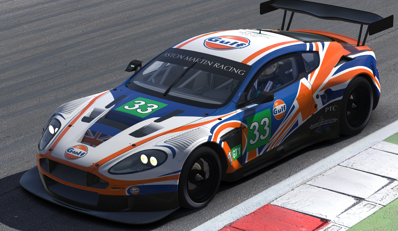 Preview of ASTON DBR9 UK Gulf flag by Max La Barack