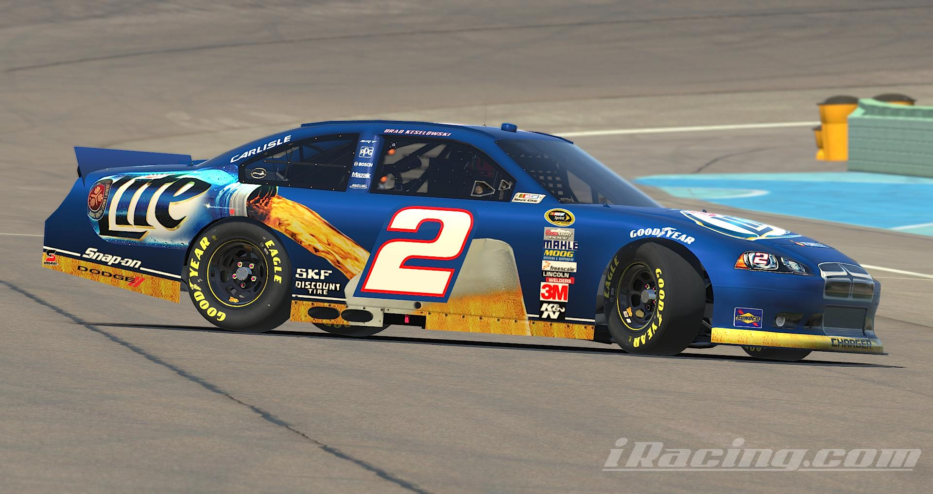 Preview of Brad Keselowski Miller Lite 2012 Dodge Charger by Nicholas Doucette