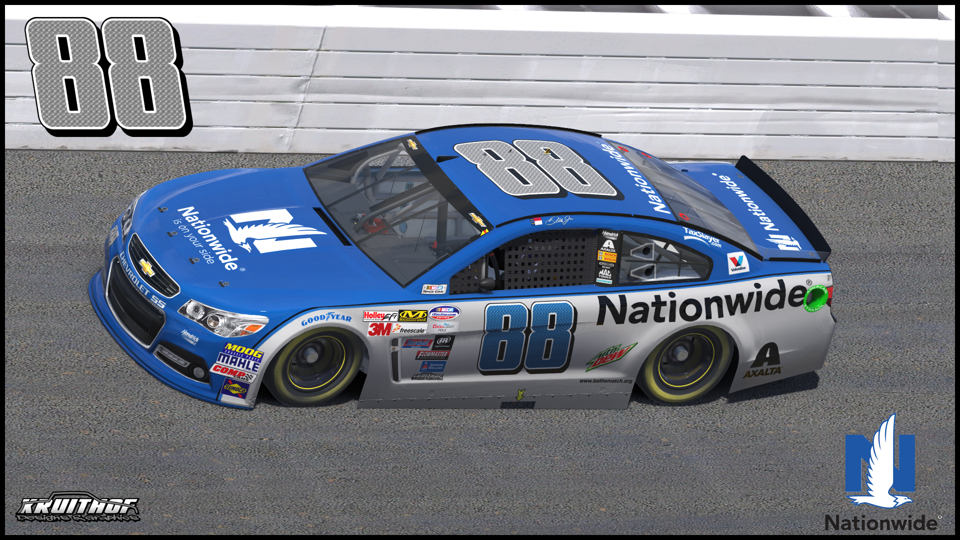 88 Dale Earnhardt Jr Nationwide 2016 by Udo Washeim - Trading Paints
