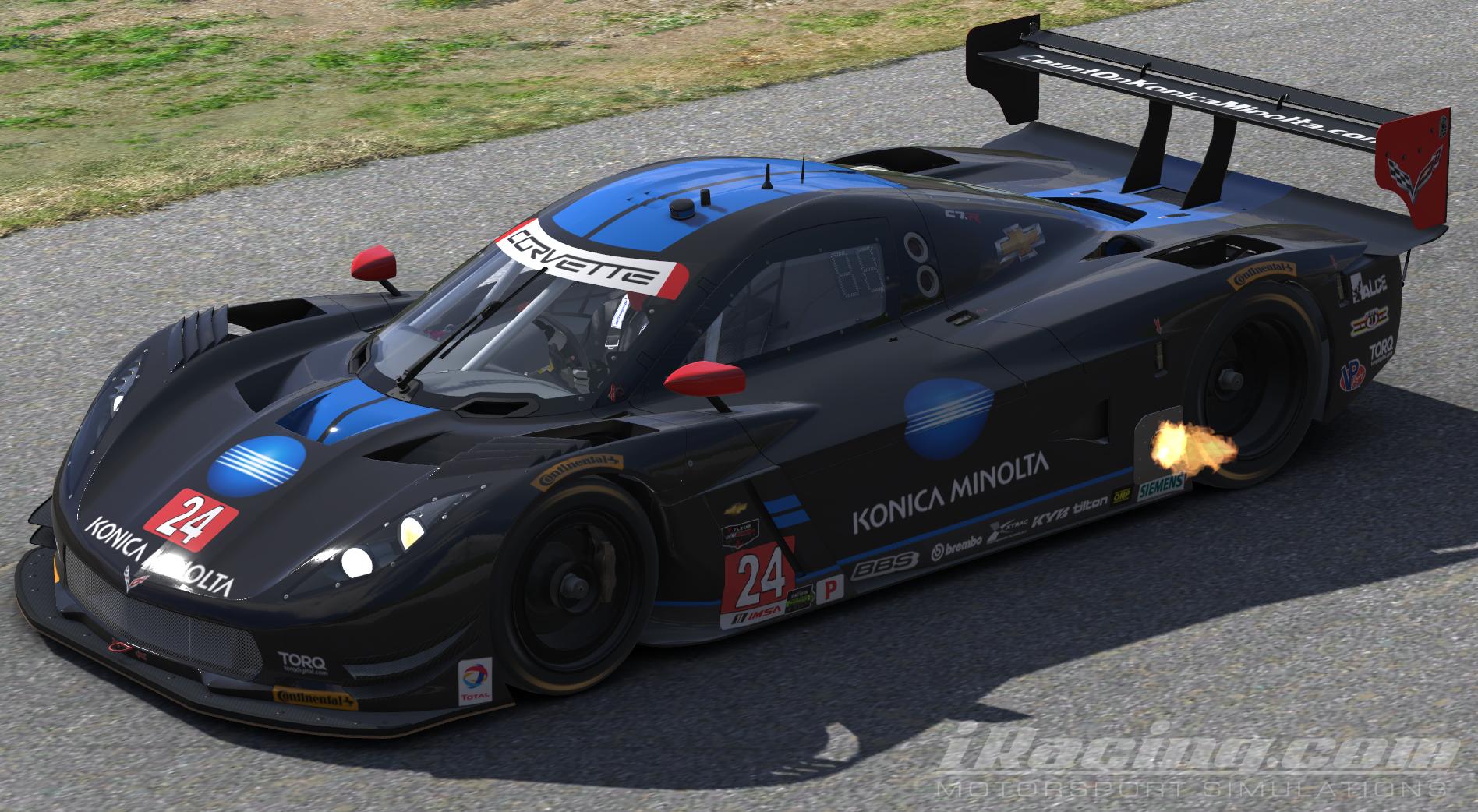 The No. 10 Konica Minolta Corvette DP for Wayne Taylor