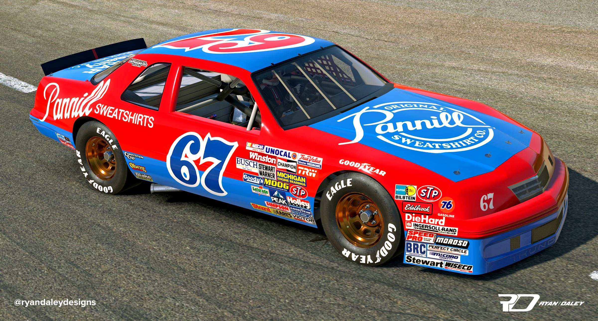 Preview of 1987 #67 Buddy Arrington Pannill Ford With Numbers by Ryan Daley